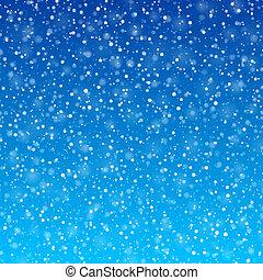 雪, 落ちる