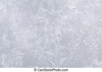 雪, 表面