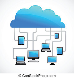 雲, イメージ, ベクトル, インターネット
