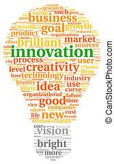 雲, タグ, 革新, 概念, 技術
