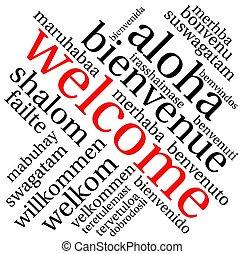 雲, 単語, 歓迎
