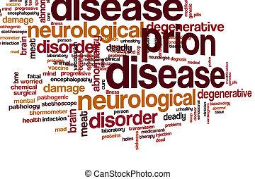 雲, 単語, prion, 病気