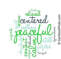 雲, 平和である, 単語