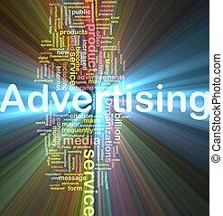 雲, 広告, 単語, 白熱