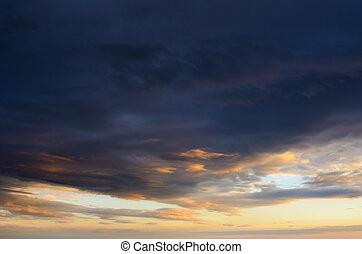 雲, 日没