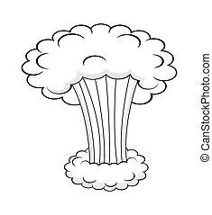 雲, 煙, 爆発