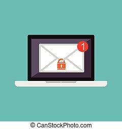 電子メール, protection., security., authority.