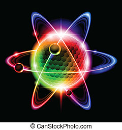 電子, 緑, 原子