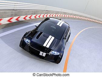 電気である, 運転, 自動車, スポーツ, 黒, ハイウェー
