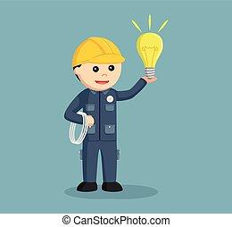 電気技師, ケーブル, 電球