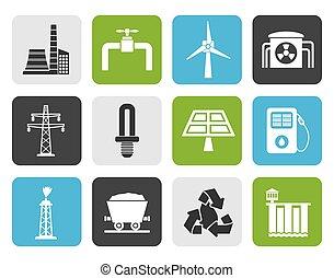 電気, 産業, アイコン