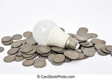 電球, エネルギー, リードした, -, セービング