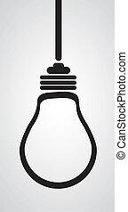 電球, シルエット