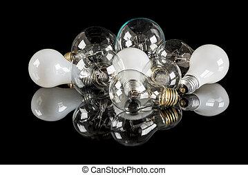 電球, 別, 多数, 白熱, 軽いテーブル, タイプ