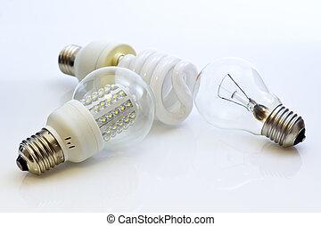 電球, 別, e27, wolfram, (fluorescent, タイプ, leds)