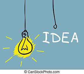 電球, 概念, 図画