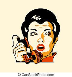 電話の女性, レトロ