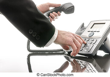 電話, 人, 数, ビジネス, ダイアルする