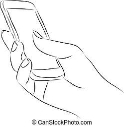 電話, 保有物, 痛みなさい, 手