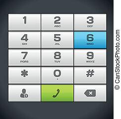 電話, 白, 数, キーパッド