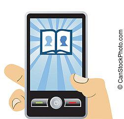 電話, 社会, 接続, ネットワーク, mobile: