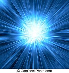 青いライト, 爆発