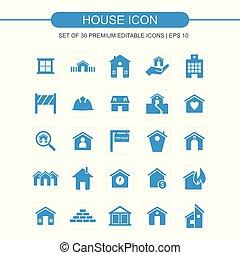 青い家, セット, アイコン