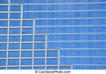 青い建物, 窓, ビジネス