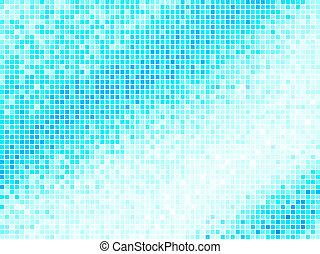 青い正方形, ライト, 抽象的, バックグラウンド。, 多色刷り, ベクトル, タイル, ピクセル, モザイク