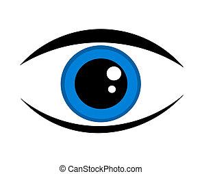 青い目, アイコン