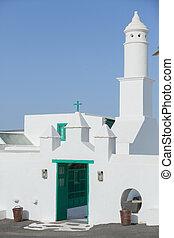 青い空, に対して, 海原, 教会