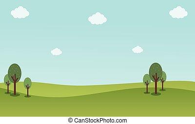 青い空, 背景, 風景, 自然