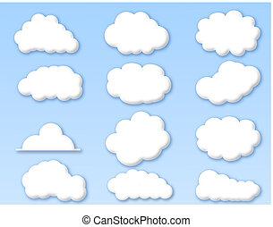 青い空, 雲, 曇り