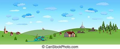 青い空, 風景, 自然