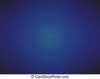 青い背景, 点を打たれた