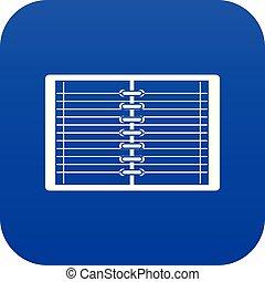 青い螺線形, ノート, デジタル, 内側を覆われた, 開いた, アイコン