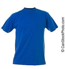 青いtシャツ