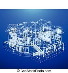 青写真, 家, 建築