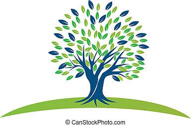 青緑, 木, leafs, ロゴ