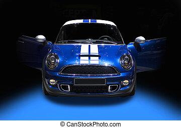 青, かわいい, スポーツ, 隔離された, 自動車