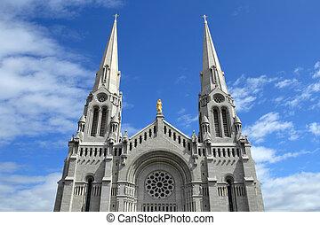 青, カトリック教, 空, に対して, 教会
