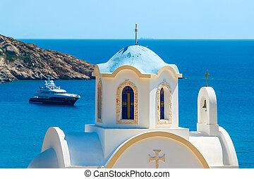 青, ギリシャ語, 小さい, ドーム, 教会