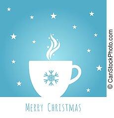 青, コーヒー, クリスマス