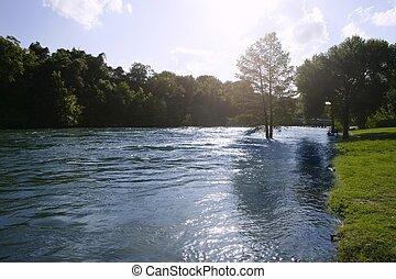 青, テキサス, san, 自然, antonio, 川の景色