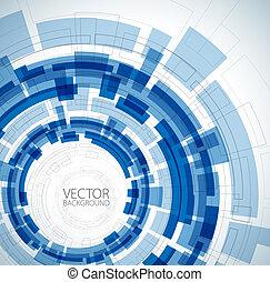 青, テクニカル, 抽象的, 背景