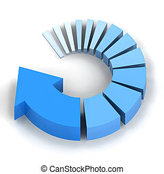 青, プロセス, 矢