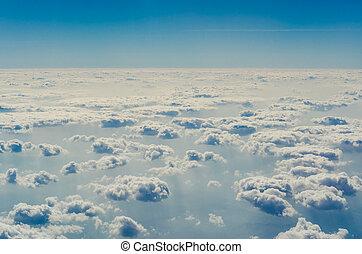 青, 上部, 層, 空, 雲, atmosphere.