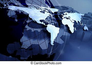 青, 世界地図