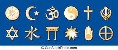 青, 世界宗教, 背景