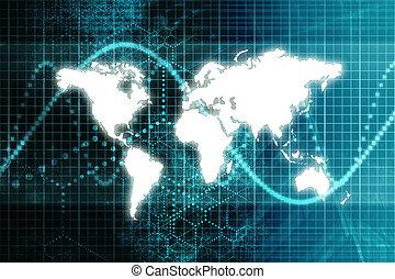 青, 世界, 株式 市場, 経済